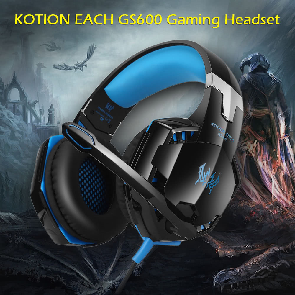 KOTION EACH GS600 Professional Gaming Headset Stereo Headphone Headband  with Mic Black-red for XBOX 360 / PS3 / PS4 / PC Computer Laptop / Mobile