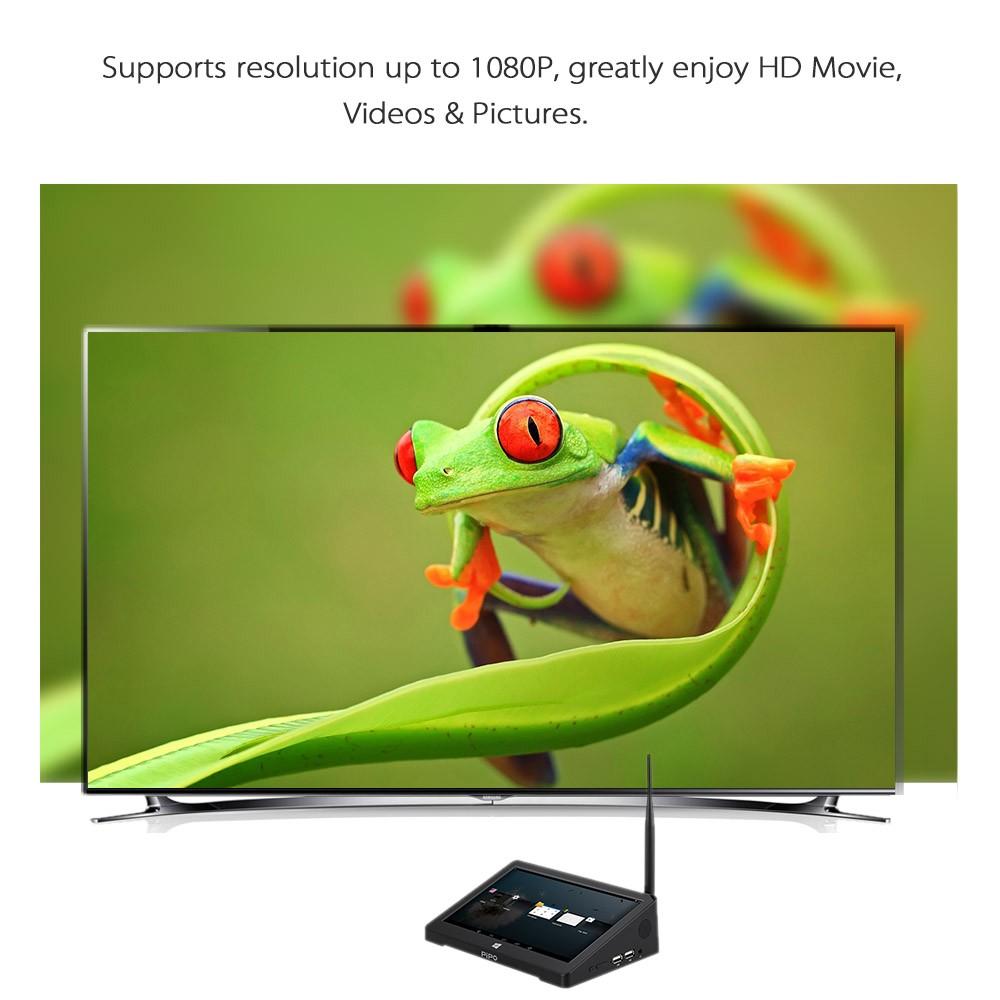 Pipo X9 Smart Tv Box 1080p Windows 10 Atom Z3736f Quad Core 32gb Dual Boot Os Android Tablet Mini Pc 44 2gb Kodi Xbmc Bt 40 Wifi Internet Intelligent