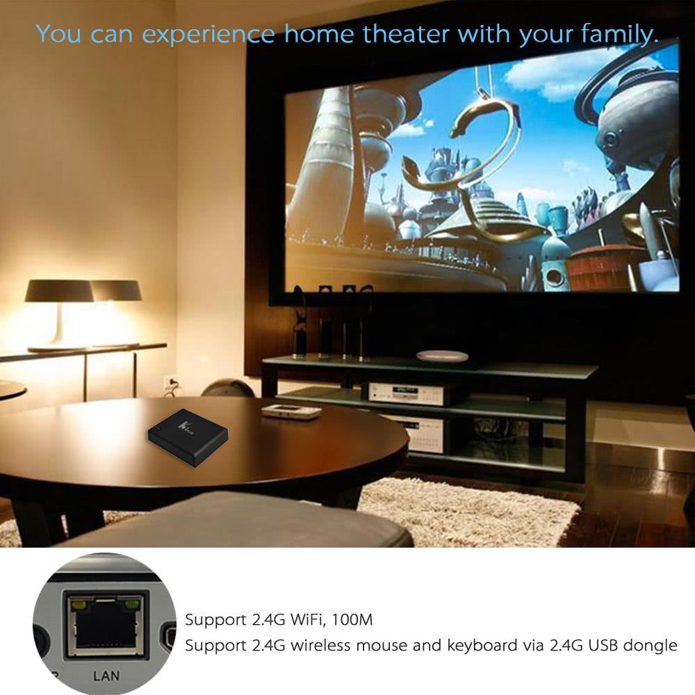 KI PLUS Smart Android TV BOX Android 5 1 1 Amlogic S905 Quad Core 64-bit 1G  / 8G UHD4K 3D HDMI2 0 Mini PC KODI XBMC Miracast DLNA Smart Media Player