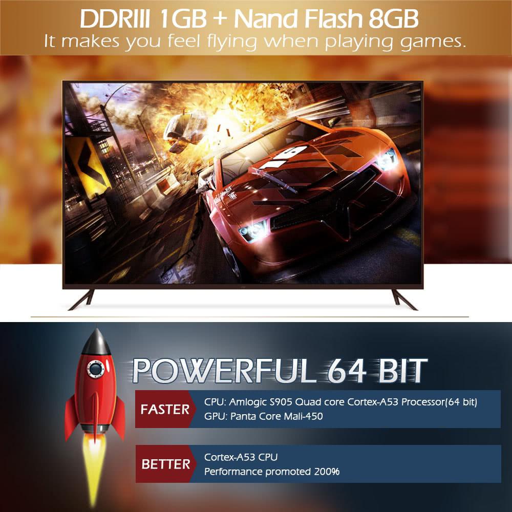 MXQ PRO NEXBOX Smart Android TV Box Amlogic S905 Quad-core 1G / 8G 64 Bits  Mini PC XBMC UHD 4K H 265 3D HD Media Player