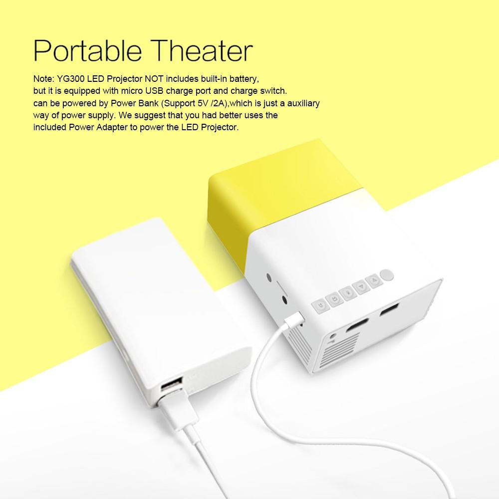 257eb22d24508a YG300 YG 300 Mini Portable Led Projector 1080P Sales Online all new eu -  Tomtop