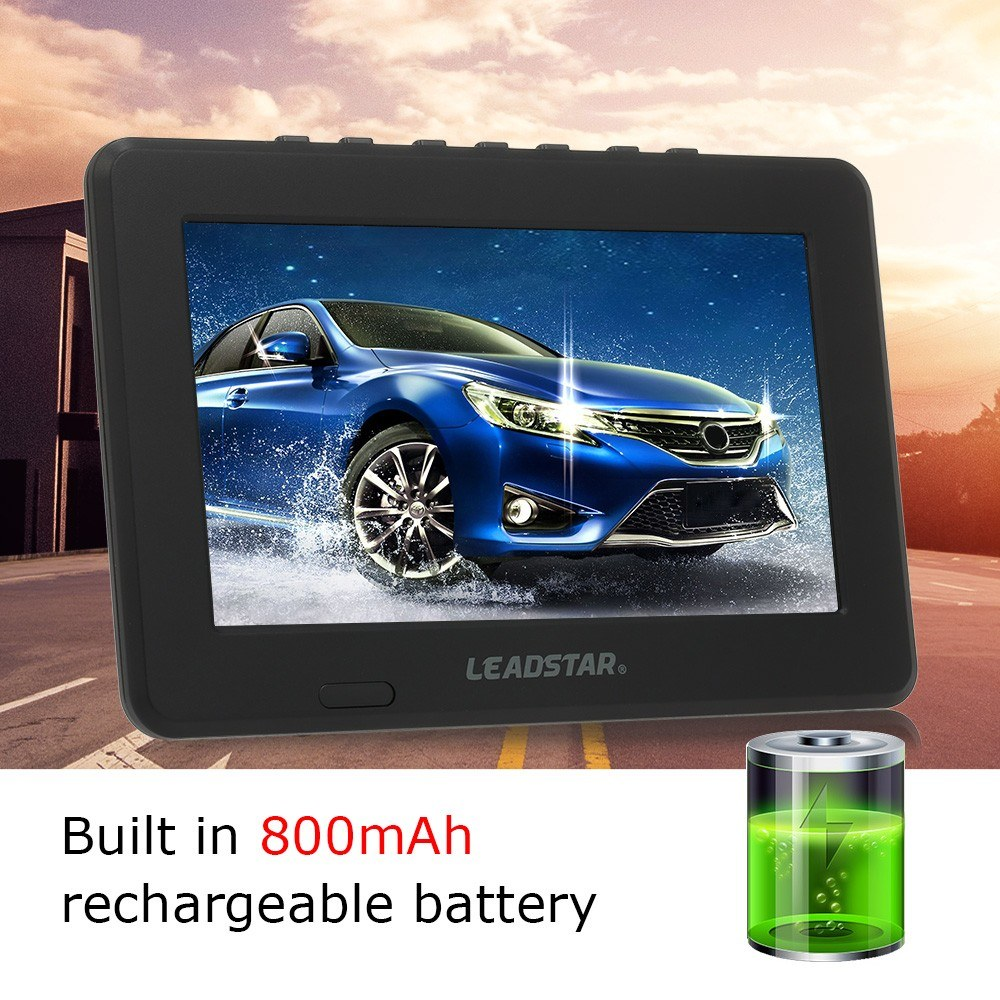 LEADSTAR Mini 7 inch ATSC Digital Analog Television 800x600 Resolution  Portable Video Player Support PVR USB TF Card 800mah Battery Sales Online  us -