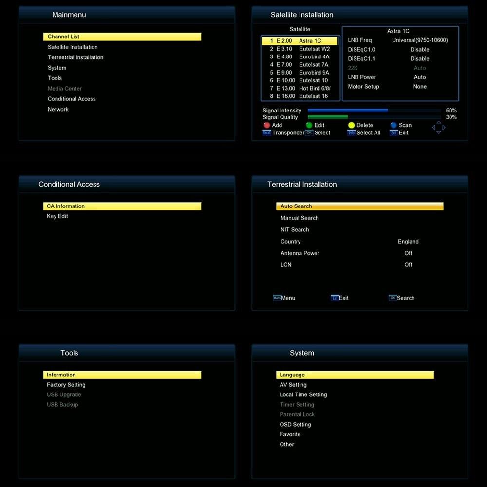 FREE SAT V7 COMBO Full HD 1080P DVB-T2 + S2 Digital Video Broadcasting  Receiver Set-up Box Compatible with DVB-S / DVB-T for TV HDTV