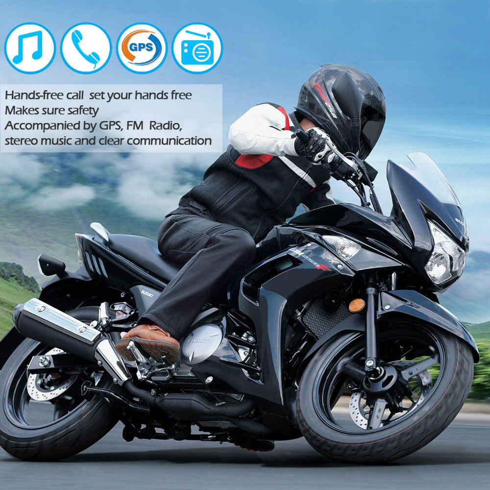 BT-S2 Motorcycle Helmet BT Intercom Waterproof Wireless Interphone