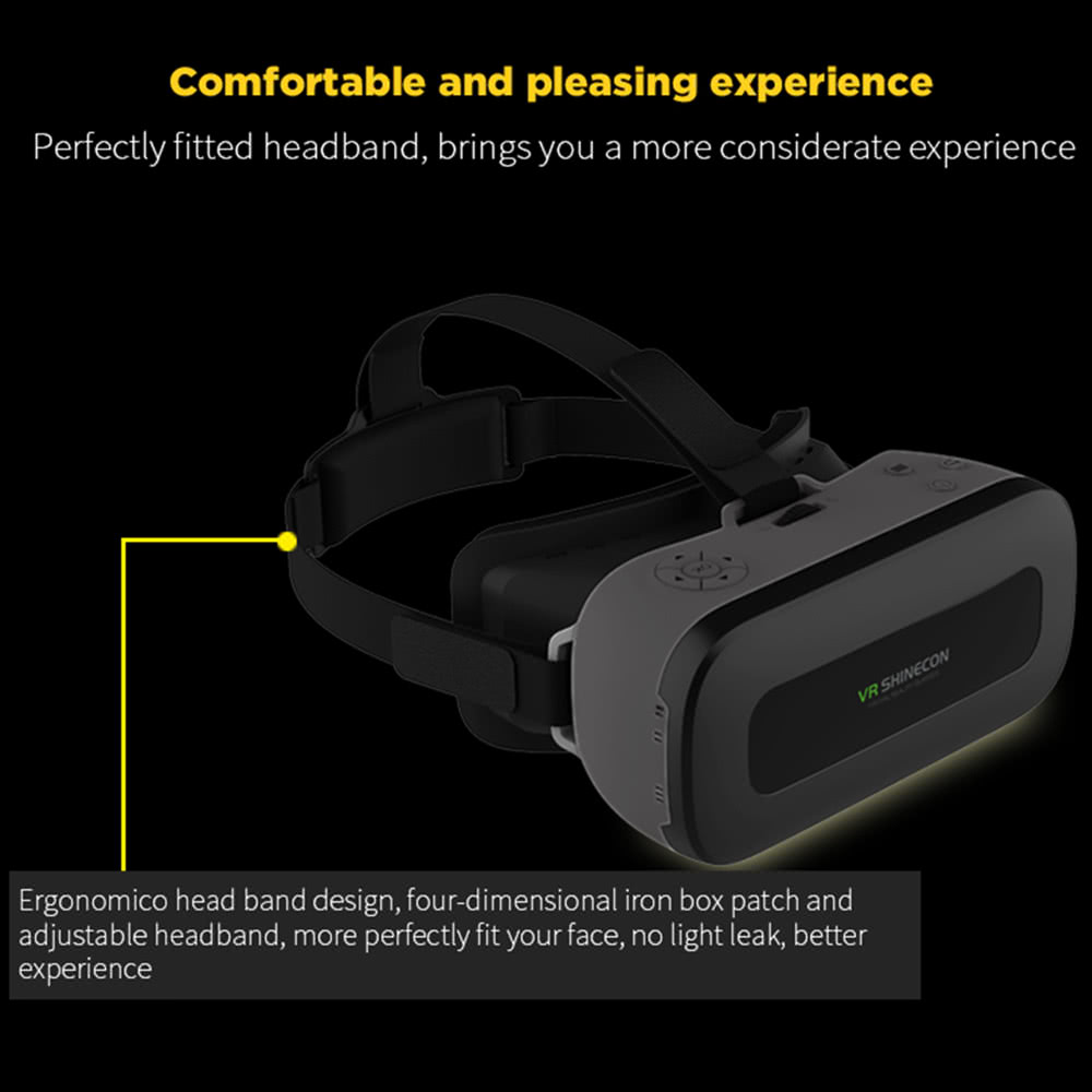 VR SHINECON VR All-in-one Machine Virtual Reality Headset 3D Glasses 1080P  5 5Inch IPS Screen 108°FOV Supports 60Hz FPS 2D / 3D / Panorama Immersive