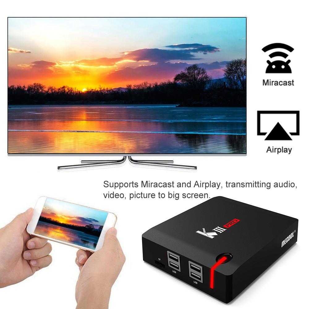 MECOOL KIII PRO Android TV BOX + DVB-S2 & DVB-T2 & DVB-C