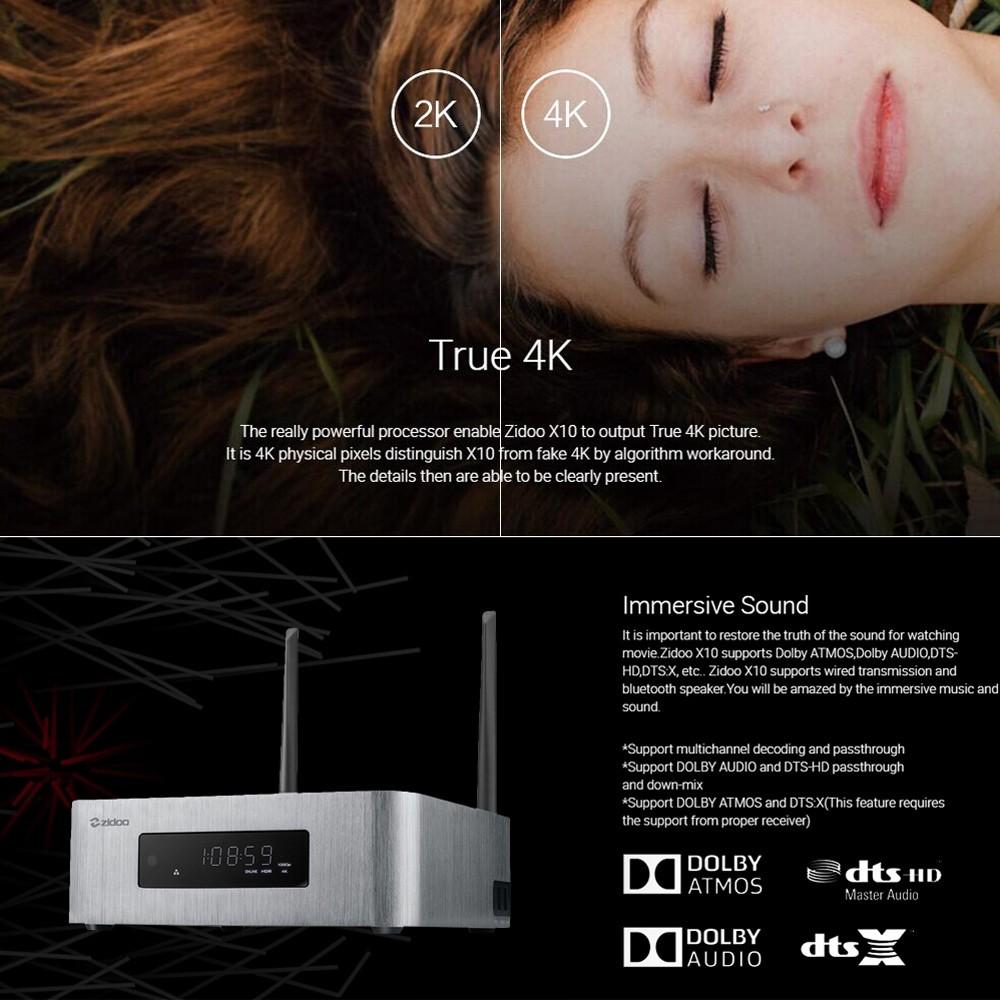 zidoo X10 Smart Android TV Box 2G +16G EU Plug