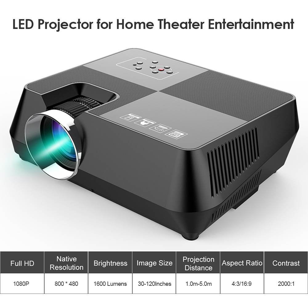 Gt S8 Lcd Projector Led 1080p Home Theater Eu Plug Sales Online Wiring Diagram Composite Video Cable To 15hd And S 1 Power Av Remote Controller User Manual