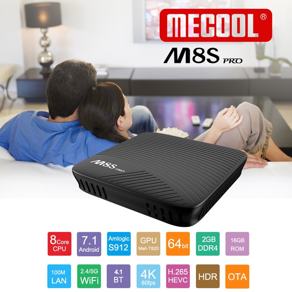 MECOOL M8S PRO ATV TV Box with Voice IR Remote Control