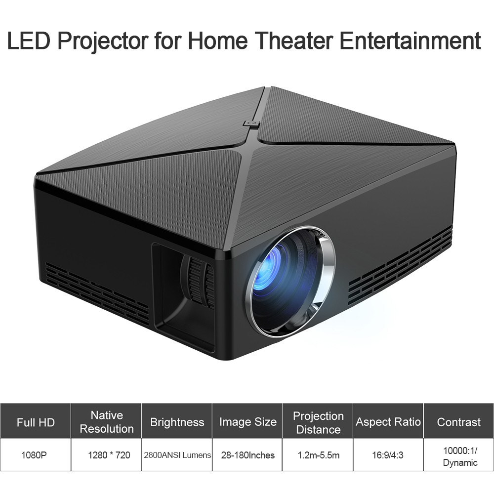 C80 LED LCD Projector Home Theater 1080P