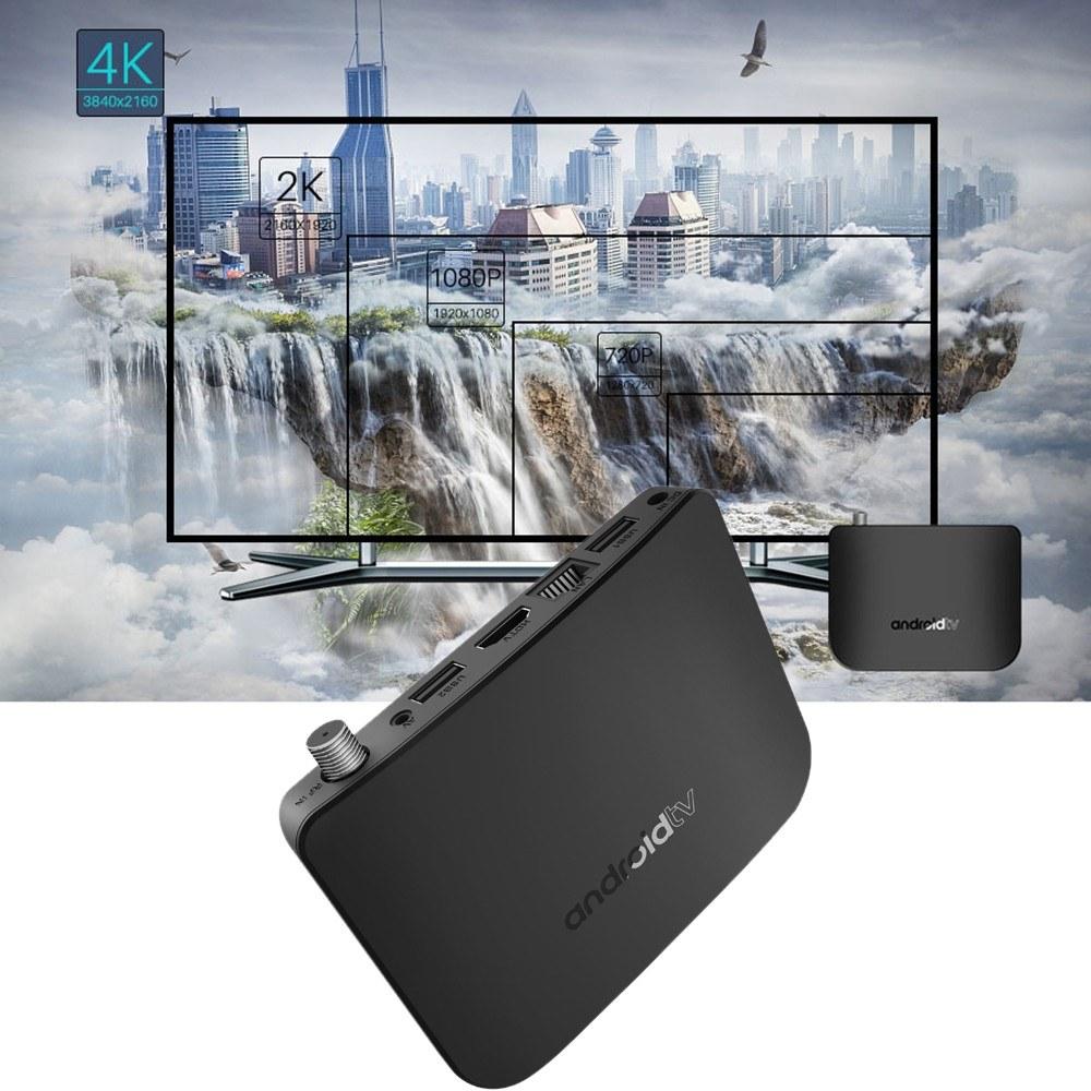 MECOOL M8S PLUS DVB Android TV BOX + DVB-S/S2/S2X Set-top Box Android 7 1  Amlogic S905D Quad-core 1GB+8GB 4K WiFi LAN H 265 Airplay Miracast HD Media