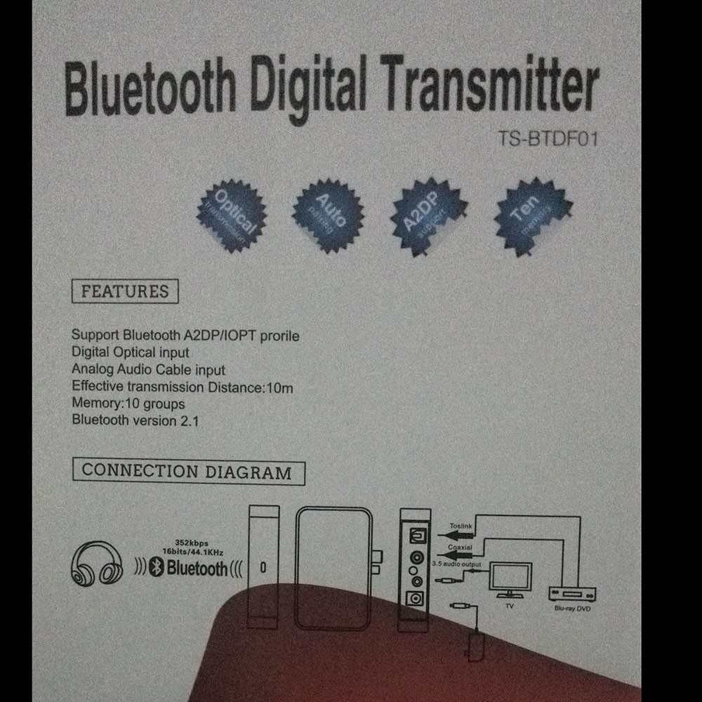 Wireless Bt Digital Transmitter Sound Audio Decoding Optical 1066 International Wiring Diagram Mouse Over To Zoom In