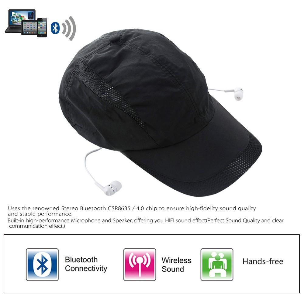 Stylish BT Music Sun Hat Headphone Popular BT 4 0 + EDR Stereo Music Hat  Earphone Topee Sport Peaked Cap & BT Headset 2-in-1 Supports Hands-free