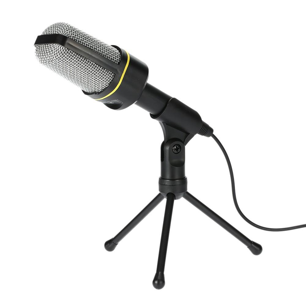 Desktop Microphone With Tripod Professional Podcast Studio