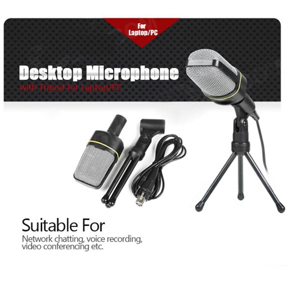 microphone de bureau avec tr pied microphone de podcast studio professionnel pour laptop pc 3 5. Black Bedroom Furniture Sets. Home Design Ideas