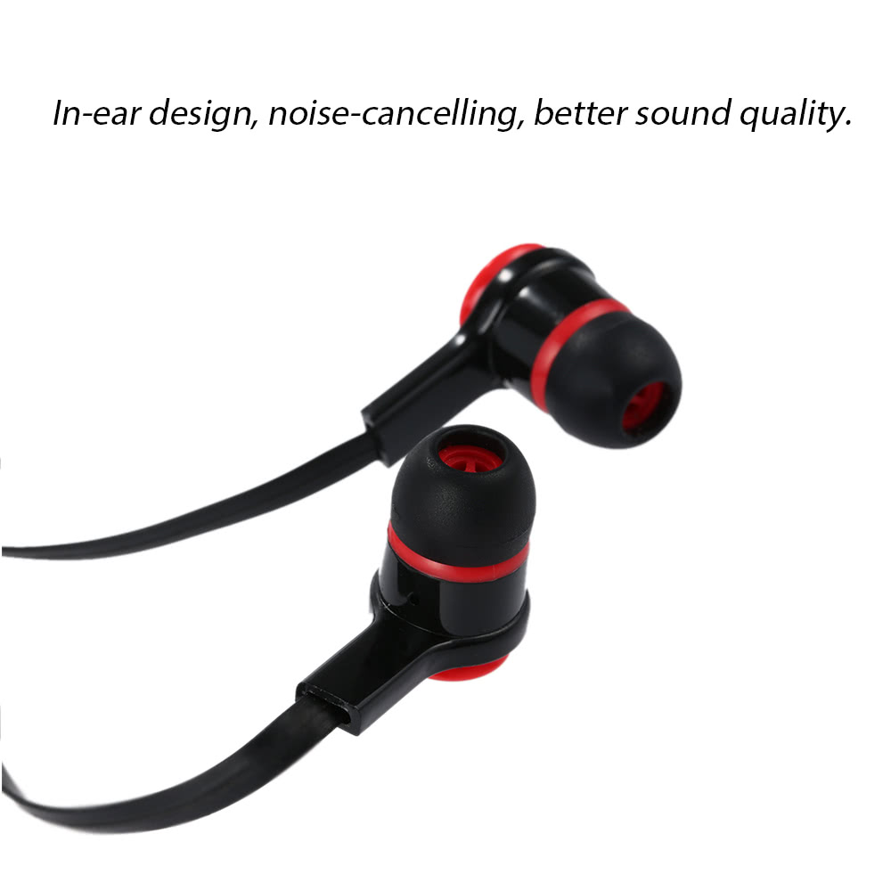 In-ear Binaural Stereo Headset 3.5mm Audio Plug Music Earphone Noise Cancellation Headphone with Mic Black for iPhone 6S 6Plus 6 Samsung S6 Note 5 HTC MP4 ...