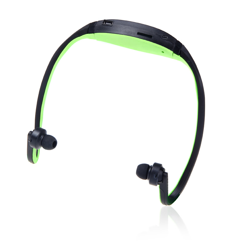 Sport MP3 WMA Music Player TF/ Micro SD Card Slot Headset Black + Green