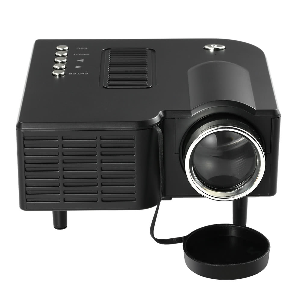 Hd portable mini led projector white sales online black us for Hd portable projector reviews