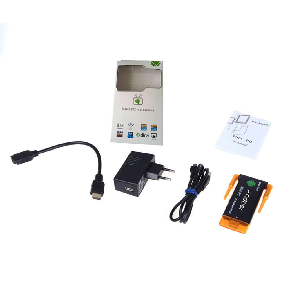 CX919 Android 5 1 Mini PC Box TV Stick Quad Core 2G/8GB Bluetooth Dual  External WiFi Antenna 1080P