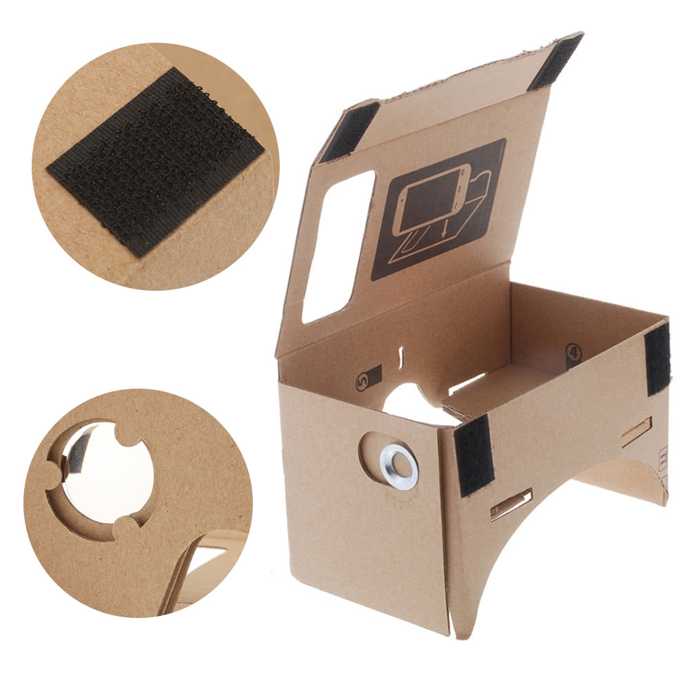Diy google cardboard virtual reality vr mobile phone 3d viewing diy google cardboard virtual reality vr mobile phone 3d viewing glasses for 50 screen sales online m tomtop publicscrutiny Image collections