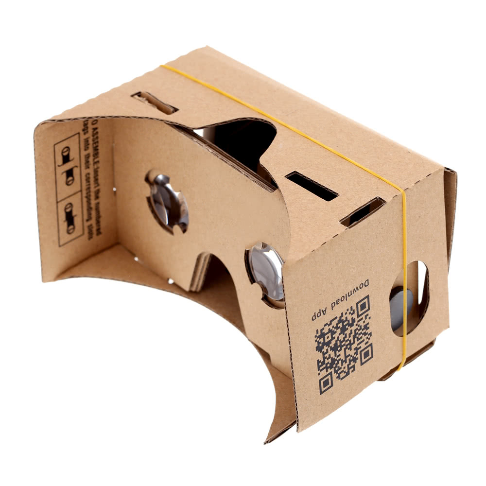 diy google cardboard virtual reality vr mobile phone 3d glasses with nfc tag for 5 5 screen. Black Bedroom Furniture Sets. Home Design Ideas