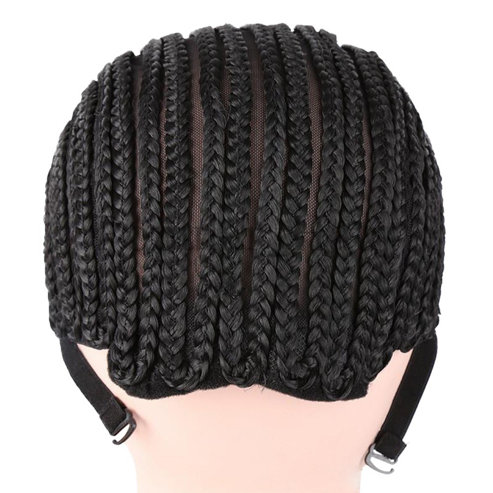 Adjustable Black Wig Caps Braided Crochet Wig Caps Cornrow For