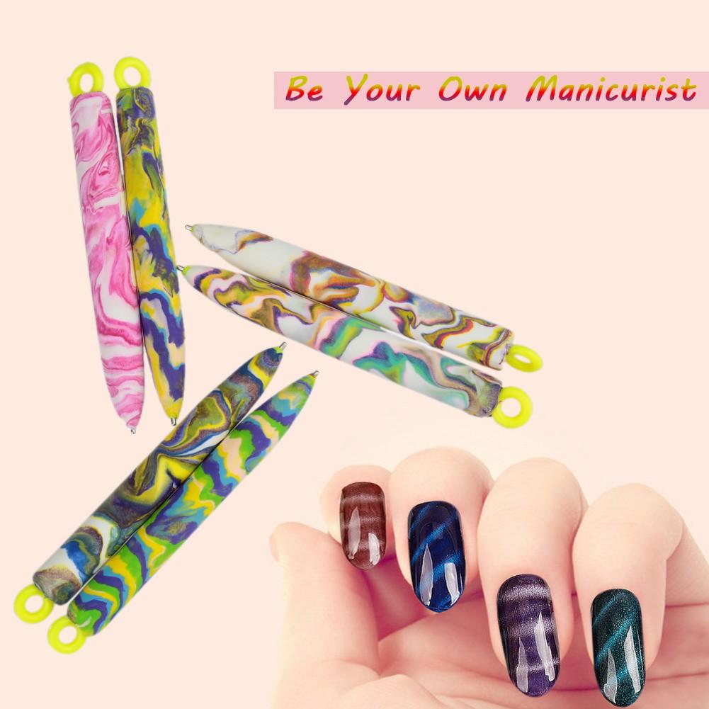 2pcs Cats Eye Nail Art Magnetic Pens Magic Diy Tool Sales Online
