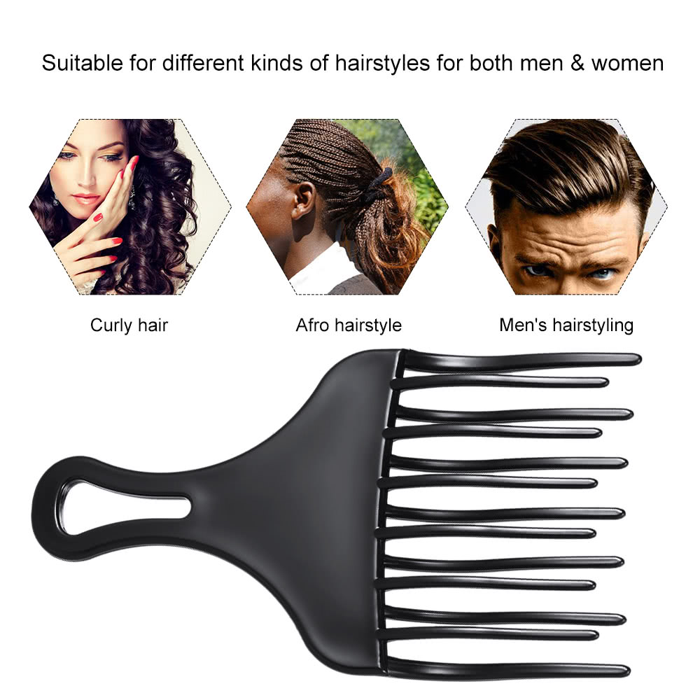 1Pc Hair Comb Insert Afro Hair Pick Comb Hair Fork Comb Plastic High ...