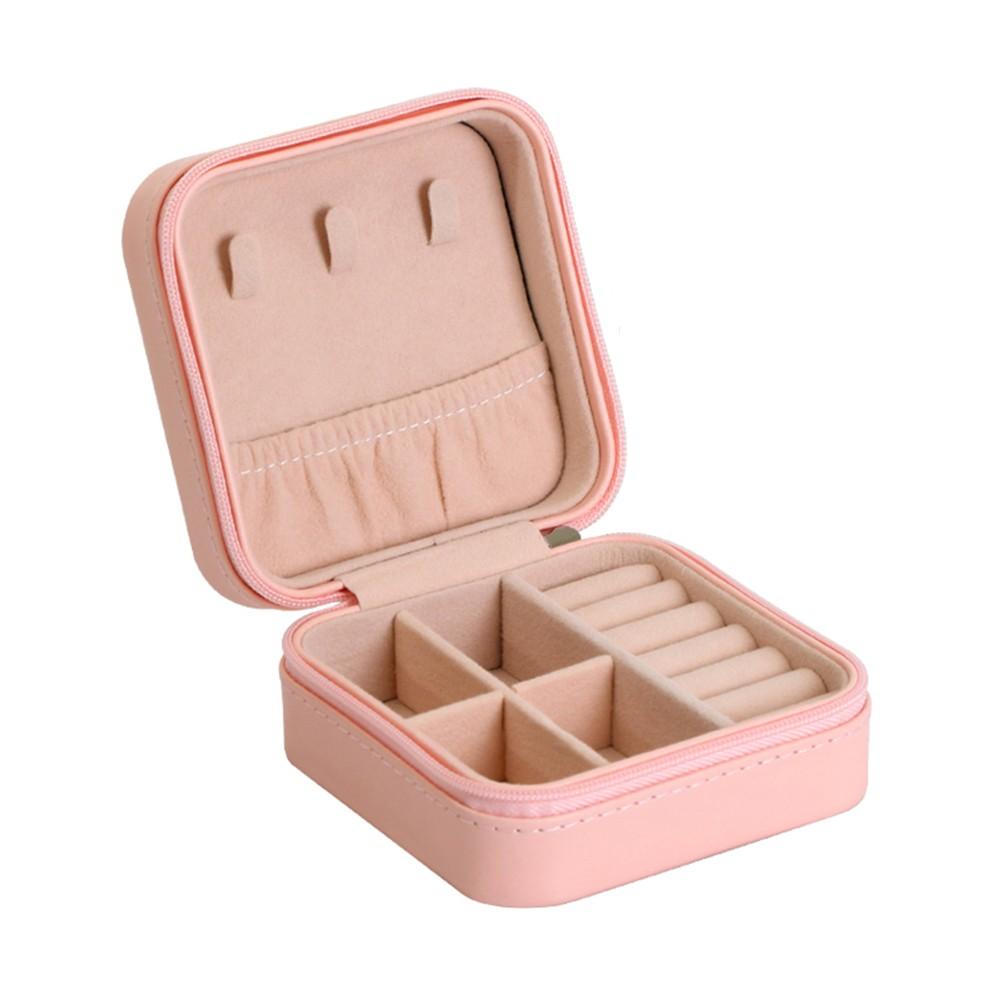 Small Portable Travel Jewelry Box Organizer