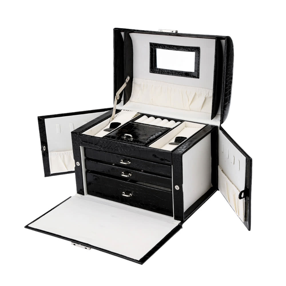 Abody Jewelry Box Jewelry Storage Case Necklace Ring Display Container Organizer