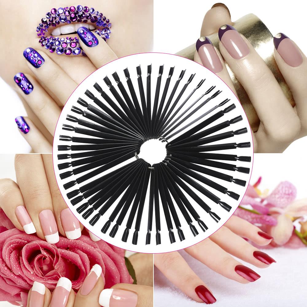 50pcs Nail Color Card Nail Design Training Card Nail Art Display ...