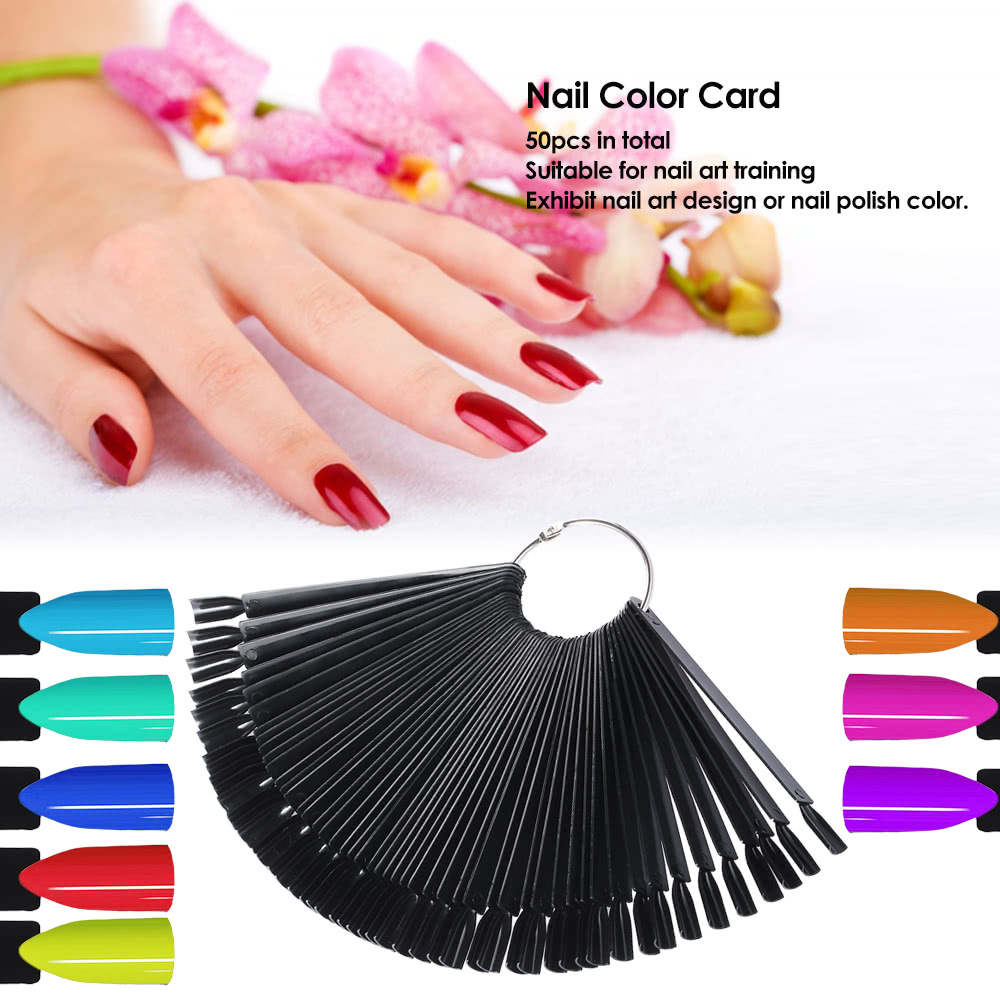 50pcs Nail Color Card Design Training Art Display Chart Professional Practice Palette For Salon S Online Tomtop
