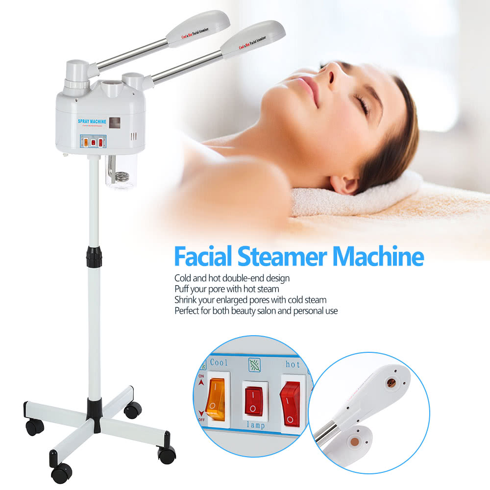 750W Facial Steamer Machine Cold & Hot Double-end For
