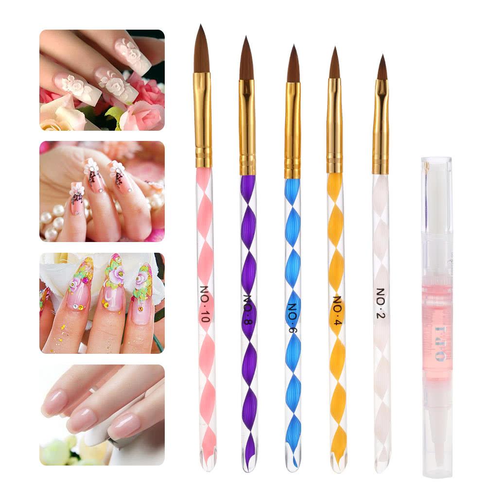 Professional Nail Art Manicure Kits Decoration UV Gel Tool Brush ...