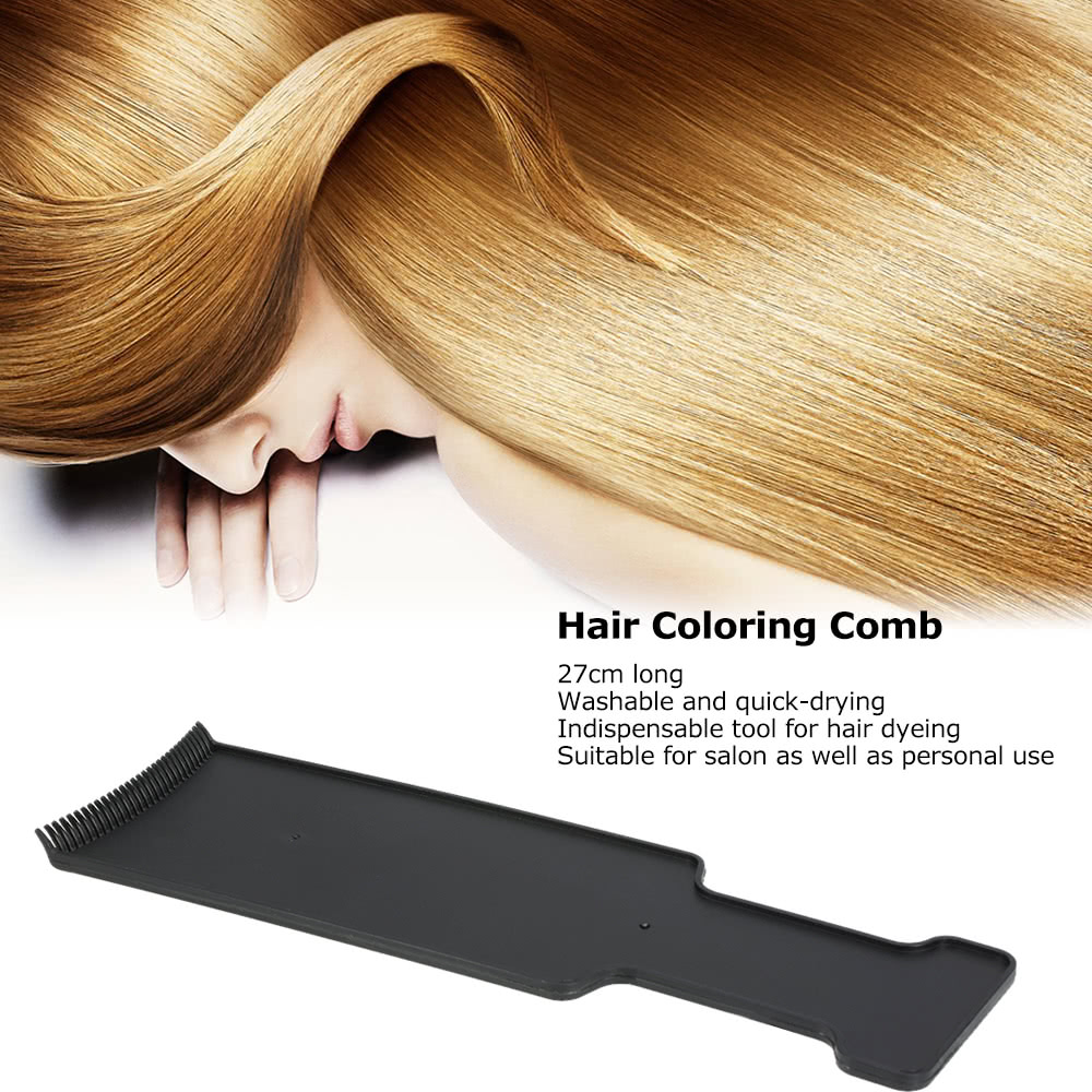 27cm Hair Coloring Comb Flat Dyeing Brush Flat Salon Comb DIY ...