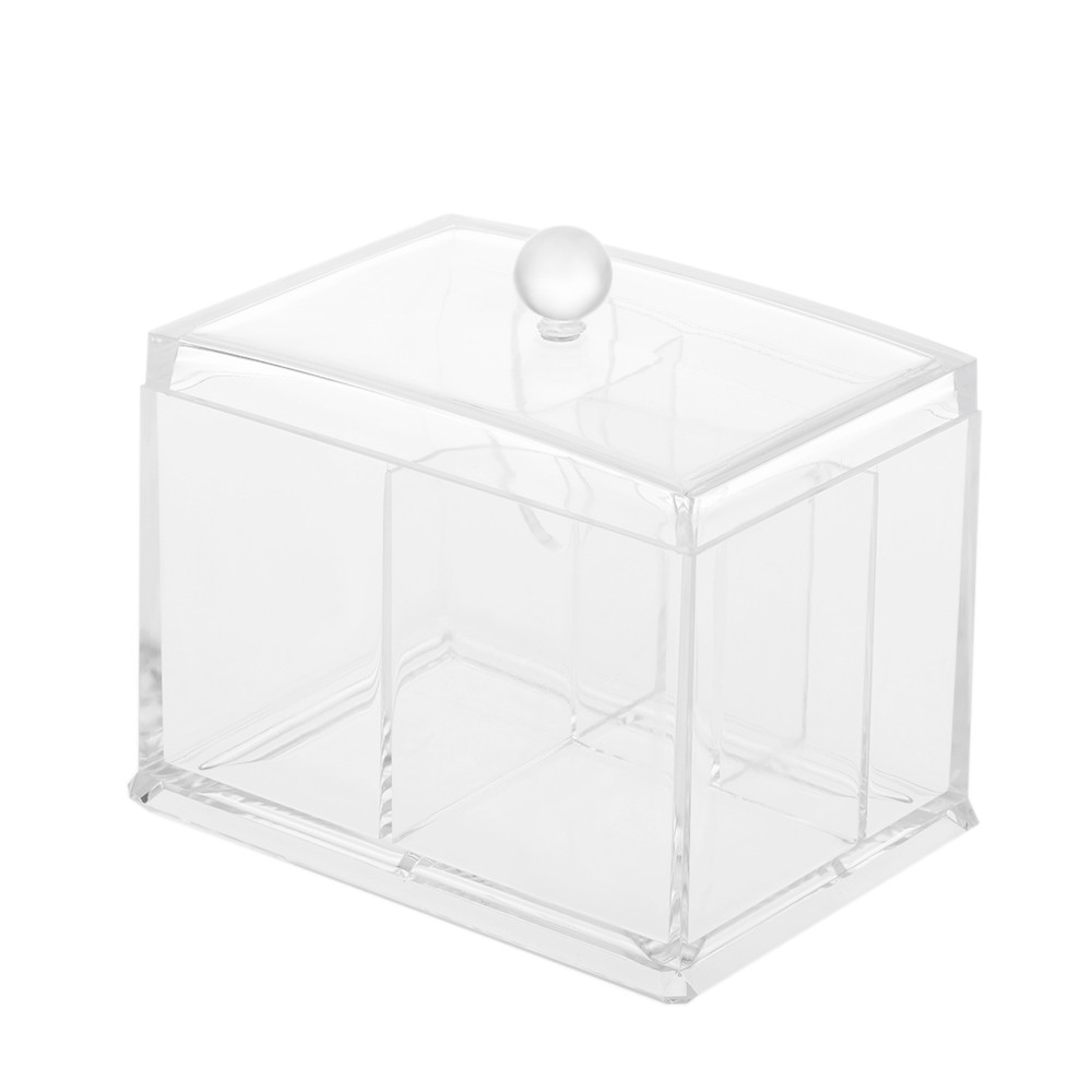 Acrylic Cotton Swabs Organizer Box Lipstick Cosmetics Storage Holder Makeup  Storage Box Portable Cotton Pads Container Sales Online   Tomtop