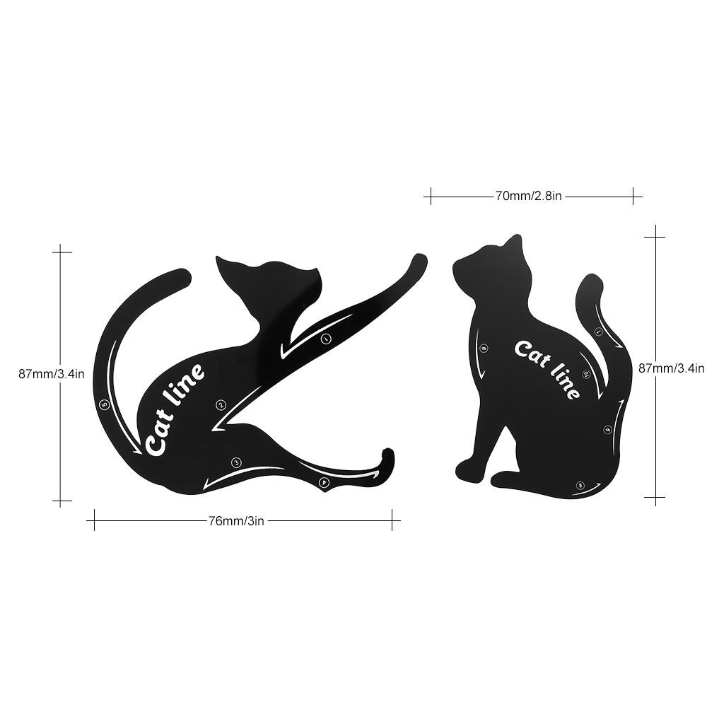2pcspack Cat Line Stencils Cards Eye Makeup Tool Eyeliner Eyeshadow