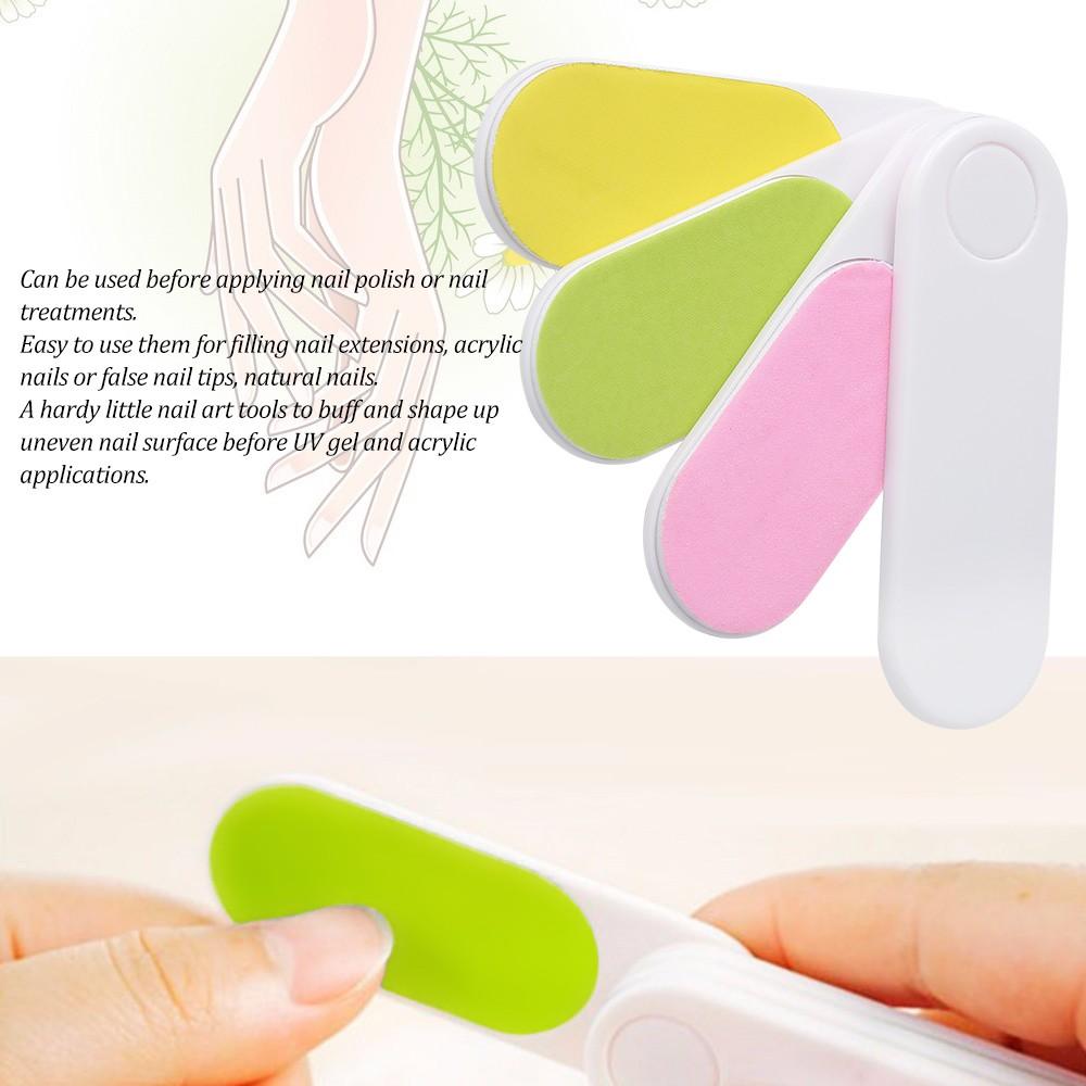 4 Colors Rotatable Nail File Professional Nail Buffer Rotating Nail ...