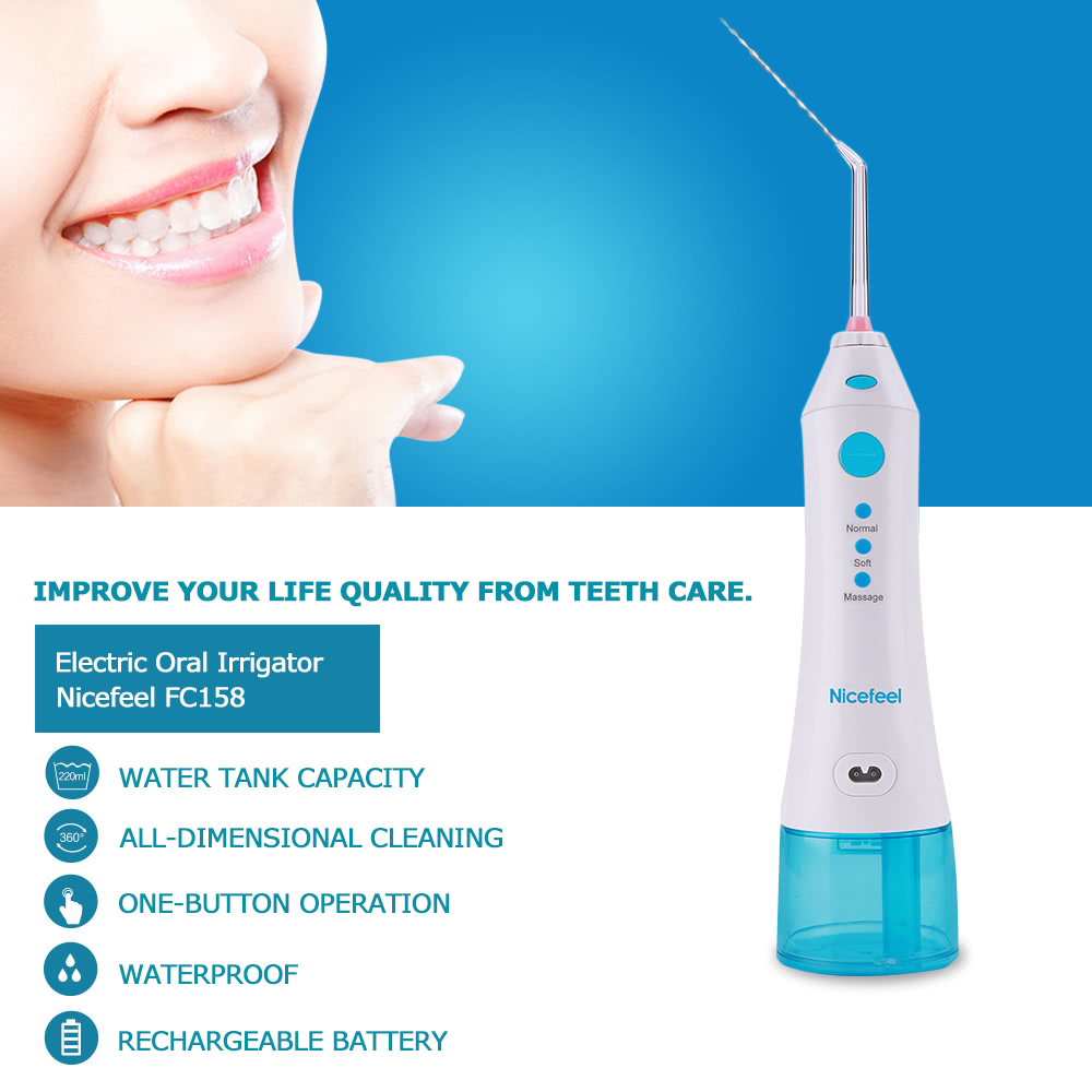 Nicefeel Fc158 Electric Oral Irrigator Rechargeable Dental