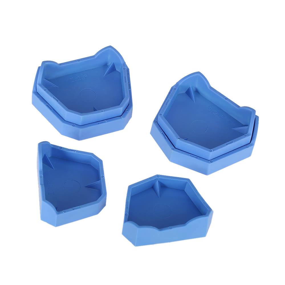 6pcs Dental Model Base Set Dental Lab Former Base Kit Dental Mold Plaster  Base Large Middle Small Size Blue Sales Online - Tomtop