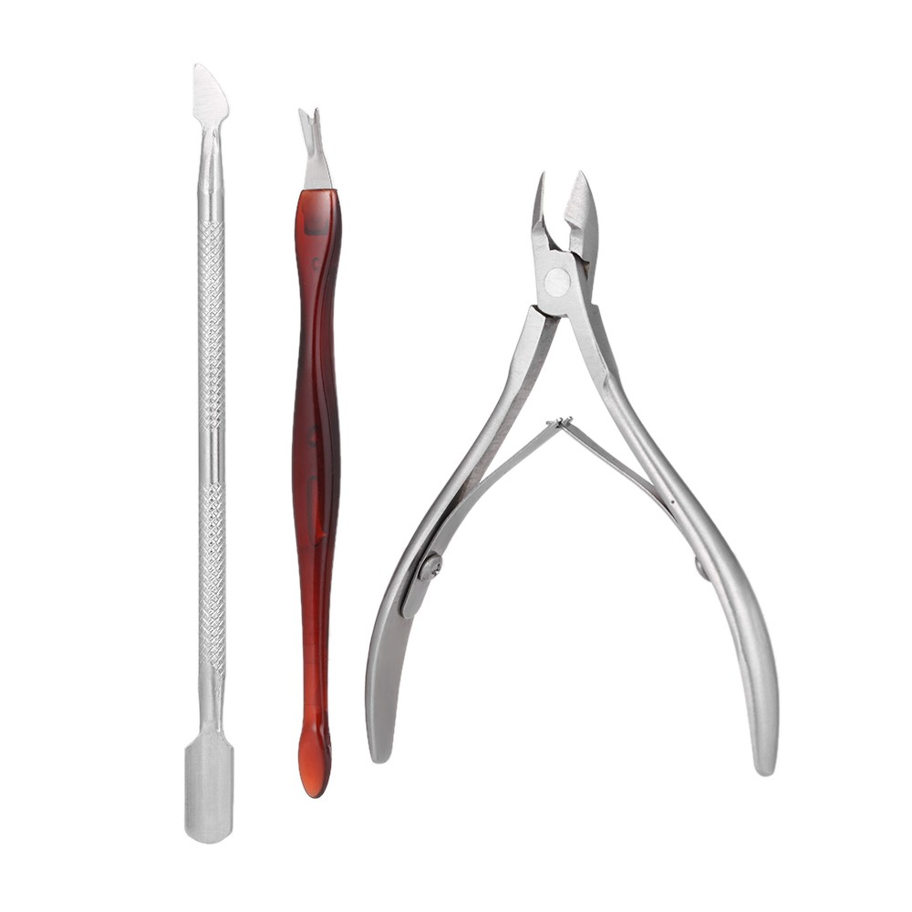 3Pcs Stainless Steel Nail Clipper Kit Nail Tools Manicure & Pedicure ...