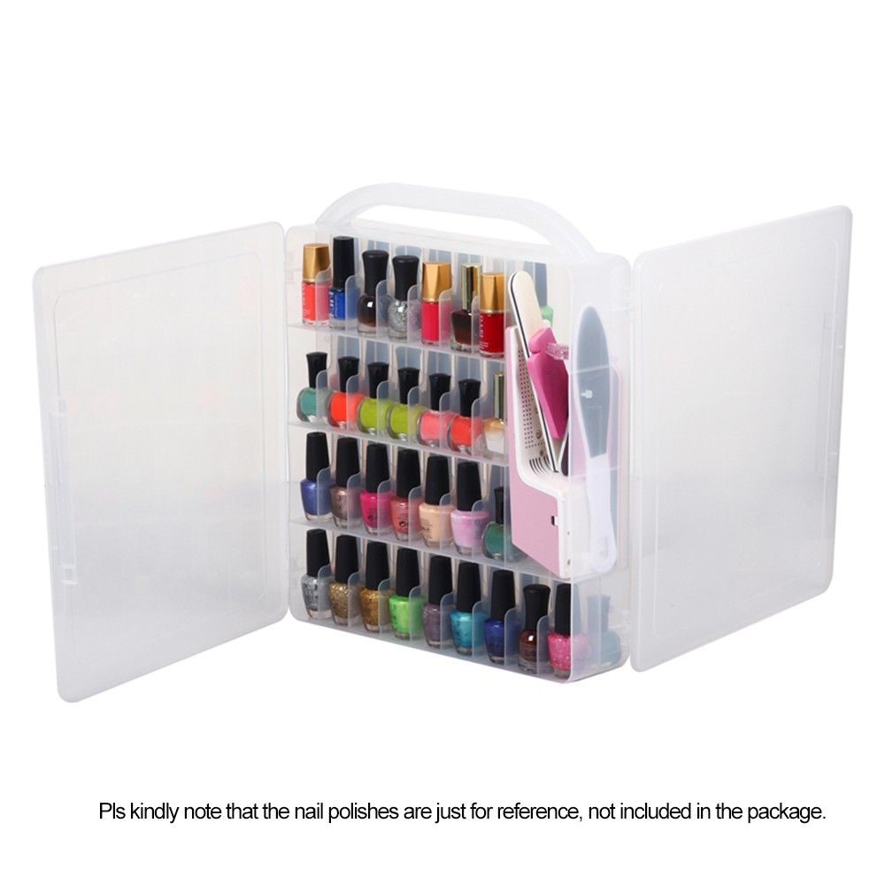 Professional Nail Polish Organizer Double Side Holder For 60 Bottles