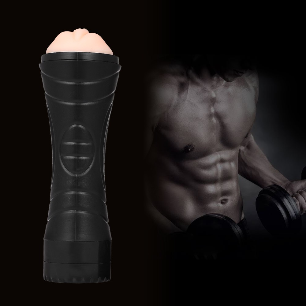 3D Male Vibrating  Masturbation Pocket Pussy Soft Silicone Artificial Vagina Sucking Masturbation Cup Sex Toy Sex Products Tighten   Masturbatory Cup for Men