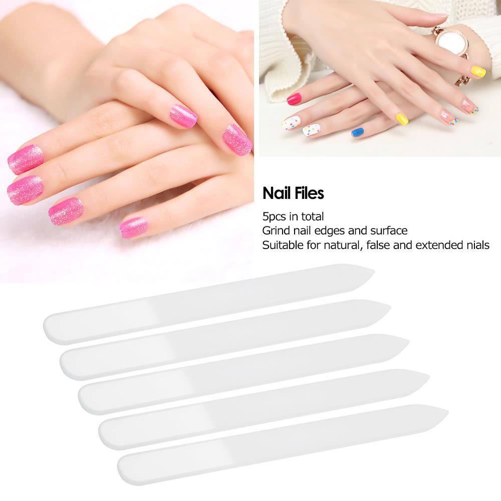 5pcs Nail Glass Files Set Nail Buffer Shiner Manicure Buffing Kit ...