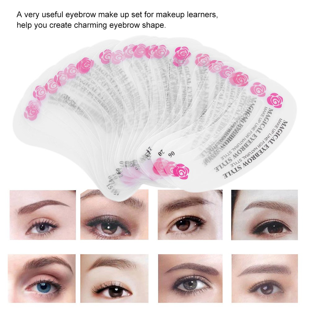 24 Pcs Eyebrow Stencil Kit Eyebrow Grooming Stencil Set Eyebrow