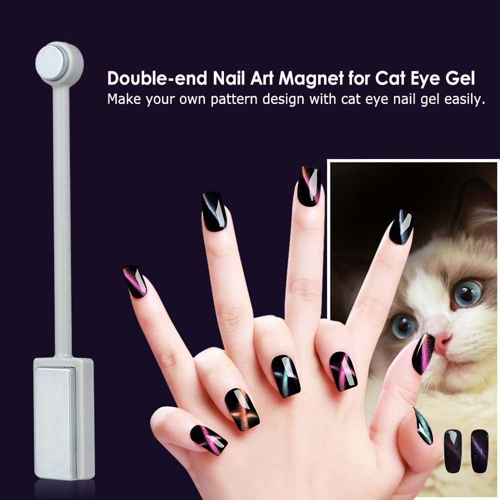 12 Pieces 3D Magnet Stick Set Magnetic Cat Eye Pen Drawing Vertical For UV Gel Polish Magical Nail Tools Sales Online