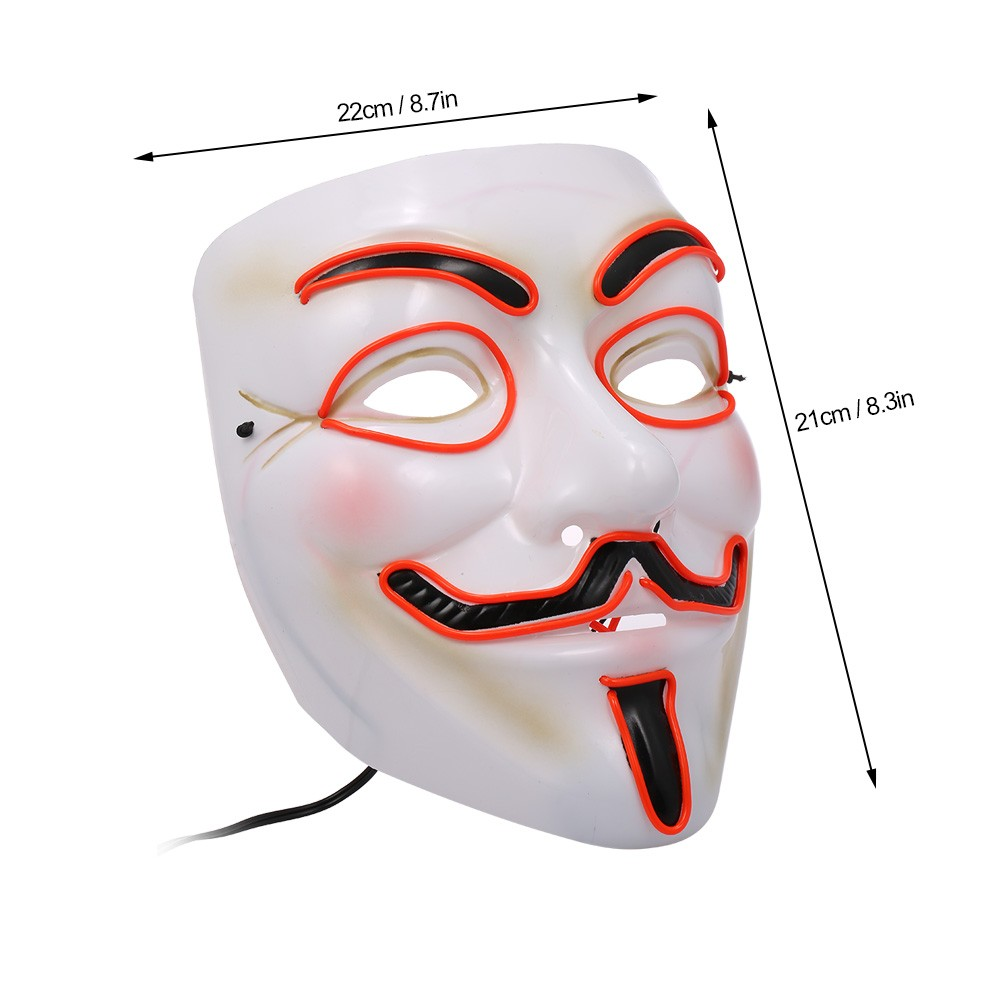 Halloween Mask Wire Led Light Up Cosplay Glowing Masks Sales Online How To
