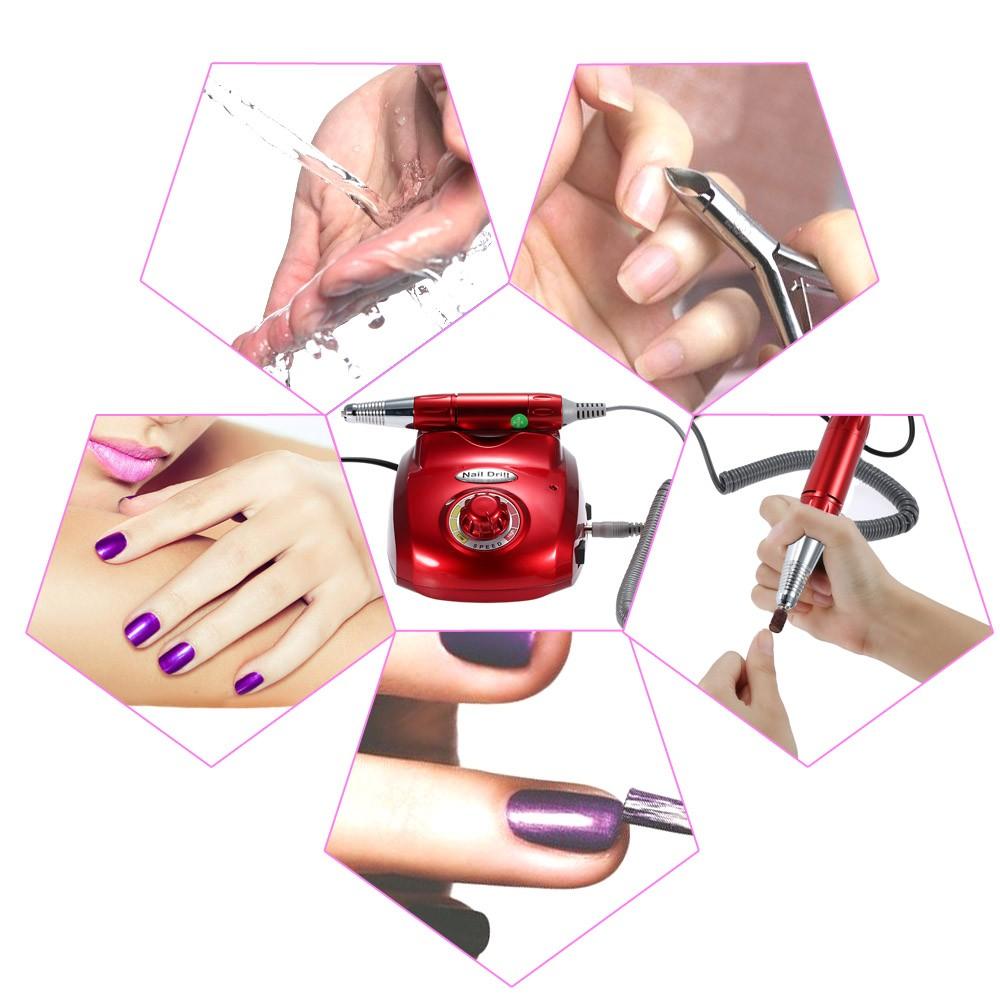 220V Professional Electric Nail Drill File Machine Nail Art Salon ...