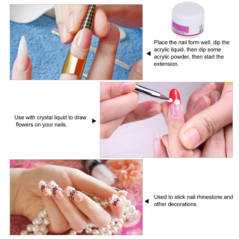 Nail Art Tools Kit Professional French Nail Tips Acrylic Glitter ...