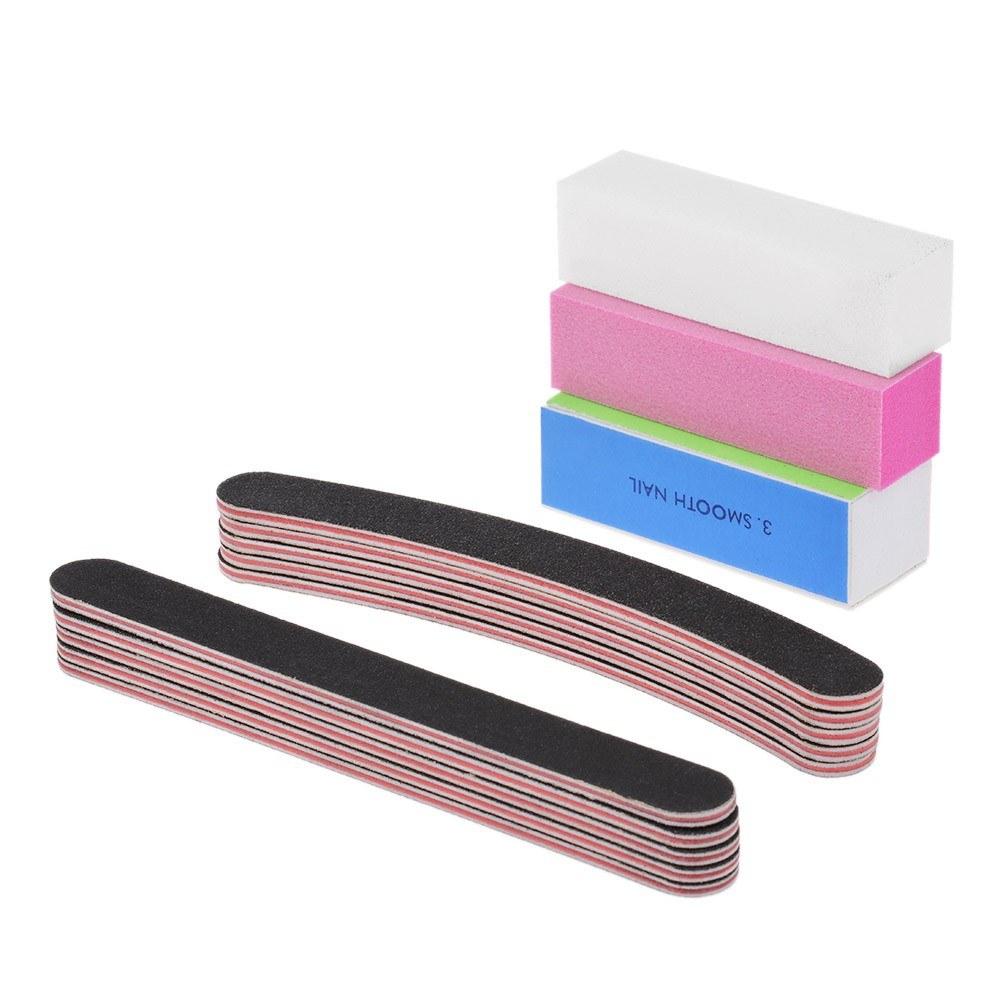 13pcs/lot Nail Manicure Kit Brush Buffer Grit Sand Nail Art ...